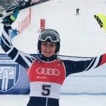 Der 1. Europacup-Slalom der Damen in Hasliberg geht an Charlie Guest