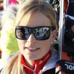 Lara Gut auf Besuch bei den Omega European Masters