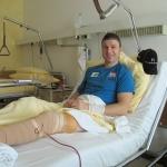 Reinfried Herbst am Knie operiert