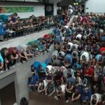 Ganz Österreich in der Hocke – auch das renommierte Skigymnasium Stams macht mit