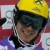 Marcel Hirscher führt beim Slalom in Wengen