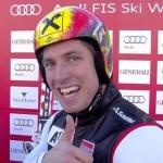 Marcel Hirscher führt nach dem 1. Durchgang beim Riesenslalom von Val d'Isere