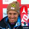 Marcel Hirscher führt nach dem 1. Riesenslalom Durchgang in Val d'Isere