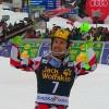 Marcel Hirscher freut sich beim Slalom von Kranjska Gora über Sieg, Kristall geht an Henrik Kristoffersen