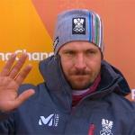 Marcel Hirscher greift nach 1. Durchgang im Olympia Riesenslalom nach Gold