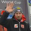 Marcel Hirscher nach dem ersten Slalom-Lauf in Madonna di Campiglio voran