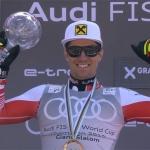 ÖSV News: Marcel Hirscher holt sich seine Riesentorlauf-Kugel ab