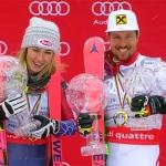Marcel Hirscher und Mikaela Shiffrin sichern sich die kleine Slalomkugel