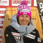Wendy Holdener beim WM-Slalom in Are auf Goldkurs unterwegs