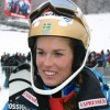 Maria Pietilae-Holmer führt beim Slalom in Zwiesel