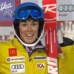 Maria Pietilä-Holmer liegt beim Slalom in Are in Führung