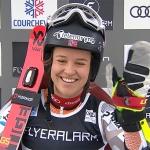 Halbzeitführung für Mina Fürst Holtmann beim Riesentorlauf von Courchevel