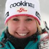 Cornelia Hütter und Vanja Brodnik gewinnen zeitgleich Europacupabfahrt in St.Moritz – Corinne Suter ausgezeichnete Dritte.