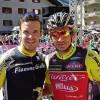 Peter Fill und Christof Innerhofer zu Besuch beim Giro d'Italia
