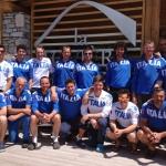 Präsentation der azurblauen Wintersportler im Gange