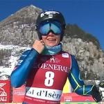 US-Athletin Breezy Johnson hat beim Abschlusstraining von Val d'Isère die Nase vorn