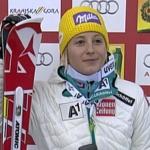 Michaela Kirchgasser führt beim Slalom in Kranjska Gora