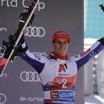 Zan Kranjec freut sich über den dritten Platz in Sölden