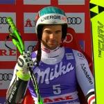 Vincent Kriechmayr freut sich über den nationalen Super-G-Meistertitel