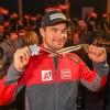 """Der """"bronzenen"""" Vincent Kriechmayr lässt sich im TirolBerg feiern"""
