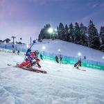 Emelie Henning und Pirmin Hacker gewinnen Europacup Nacht-Parallelslalom am Kronplatz