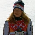 Ester Ledecká konnte im Zielraum ihr Glück nicht fassen