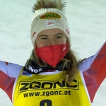 ÖSV News: Katharina Liensberger steigt als Dritte auf das Levi Podest