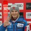 Nina Løseth liegt mit Nummer 1 im Riesenslalom von Killington zur Halbzeit auf Rang 1