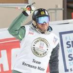 Hermann Maier begrüßte die Fans bei der Star Challenge in Flachau als Vorläufer.