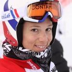 Gemeinsam ist man stark: Französische Ski-Damen auf dem Pisaillas-Gletscher