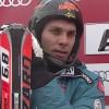 Mario Matt führt beim Slalom der Herren in Kitzbühel.