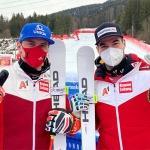 ÖSV News: Vincent Kriechmayr und Matthias Mayer feiern Doppelsieg beim Super-G in Garmisch.