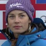 Tina Maze führt nach dem 1. Durchgang beim Riesenslalom Weltcupauftakt in Sölden