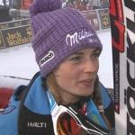 Tina Maze führt nach dem 1. Durchgang beim Riesenslalom von Courchevel
