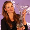 """Skieur d'Or AIJS –Serge Lang Trophy 2013"" Presented by MILKA geht an Tina Maze"