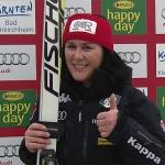 Daniela Merighetti mit Tagesbestzeit beim 2. Abfahrtstraining in Bad Kleinkirchheim