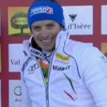 Manfred Mölgg führt beim Slalom von Val d'Isere