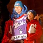 """Manfred Mölgg in Adelboden auf Platz drei – 200. Podium eines """"Azzurro"""""""