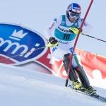 Manfred Mölggs Reaktion auf Platz drei beim Slalom in Adelboden