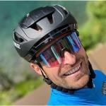 Manfred Mölgg macht bei der Maratona dles Dolomites eine sehr gute Figur