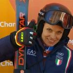 Manuela Mölgg greift im Olympia-Riesenslalom von PyeongChang nach der Goldmedaille