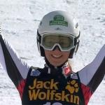 Elisa Mörzinger erstmals auf einem Ski Weltcup Podest