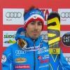 Victor Muffat-Jeandet liegt nach dem 1. Riesenslalom Durchgang von Alta Badia in Führung