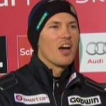 Andre Myhrer führt beim Slalom von Schladming
