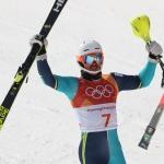 Olympiasieger André Myhrer konzentriert sich auf den Slalom