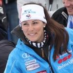 Noens freut sich über den Sieg beim EC-Slalom der Damen in Zinal