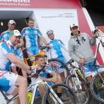ÖSV Abfahrer: Mit den Mountainbike auf den Hahnenkamm