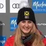 Nina Ortlieb feiert ersten Ski Weltcup Sieg beim Super-G von La Thuile