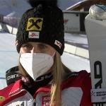 Nina Ortlieb als beste ÖSV Rennläuferin Fünfte bei der ersten Abfahrt in Val d'Isere