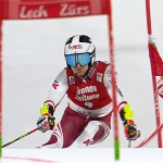 Adrian Pertl  beim Parallel-Rennen in Lech-Zürs knapp am Podest vorbei